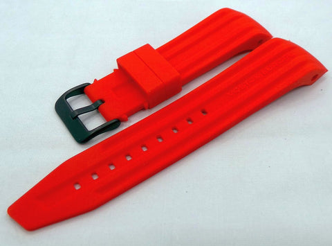Vostok Europe Mriya Silicon Strap 24mm Red-Mry.24.S.B.R
