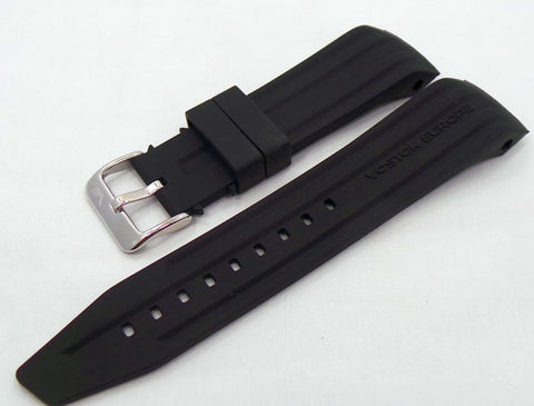 Vostok Europe Mriya Silicon Strap 24mm Black-Mry.24.S.S.Bk - Russia2all