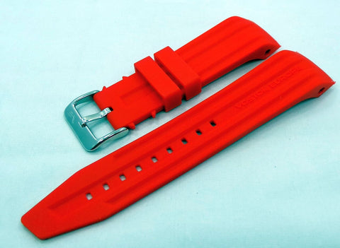 Vostok Europe Mriya Silicon Strap 24mm Red-Mry.24.S.S.R - Russia2all