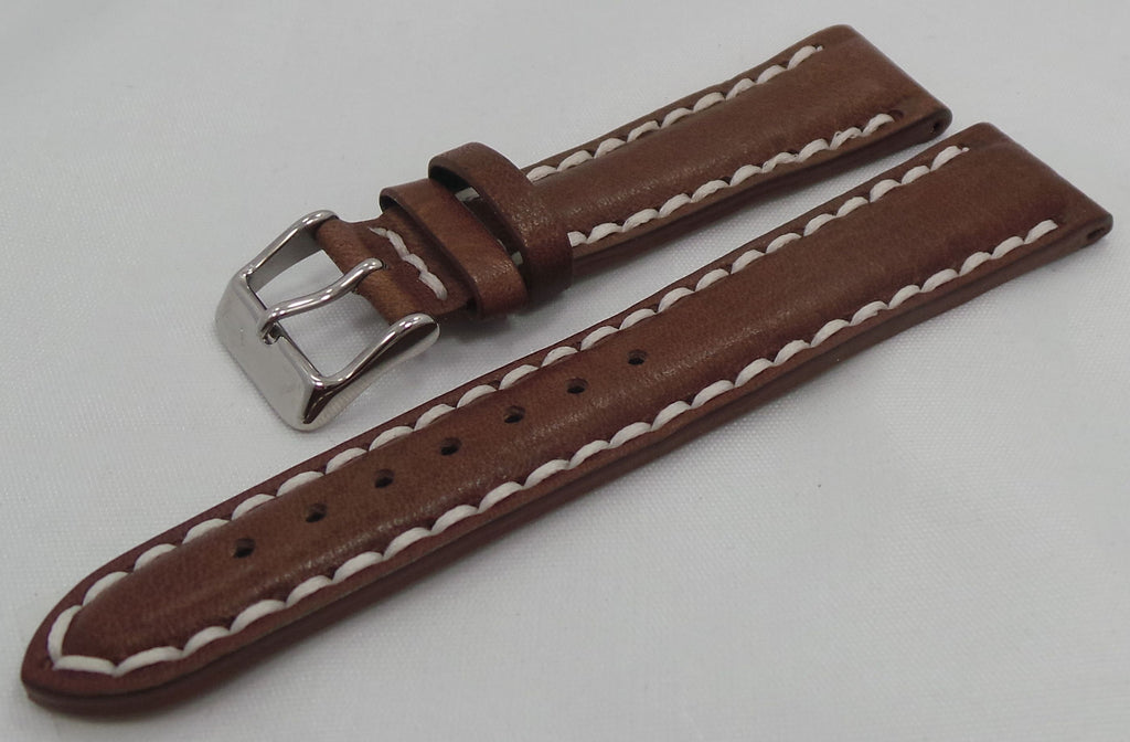 Vostok Europe N1 Rocket-Radio Room Leather Strap 20mm Brown/White-N1RR.20.L.S.Br.W - Russia2all