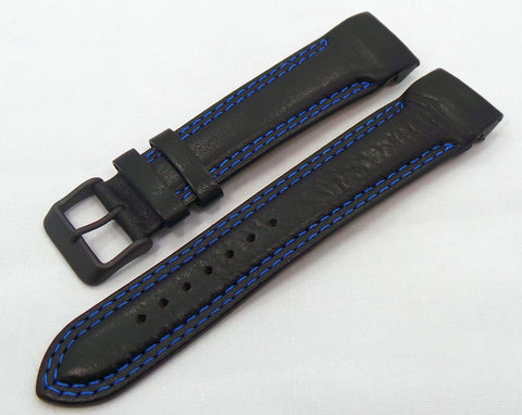 Vostok Europe N1 Rocket-Radio Room Leather Strap 22mm Black/Blue-N1RR.22.L.B.Bk.Bu - Russia2all