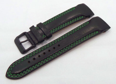 Vostok Europe N1 Rocket-Radio Room Leather Strap 22mm Black/Green-N1RR.22.L.B.Bk.G