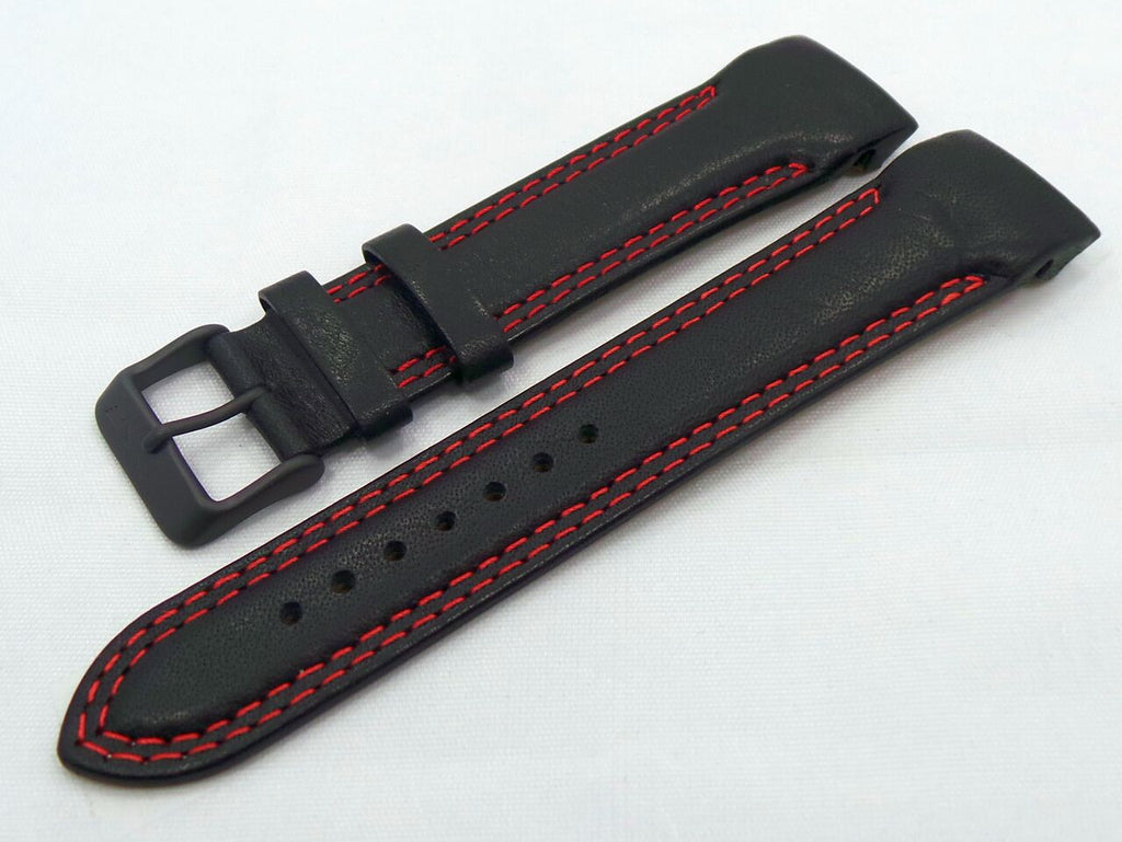 Vostok Europe N1 Rocket-Radio Room Leather Strap 22mm Black/Red-N1RR.22.L.B.Bk.R - Russia2all
