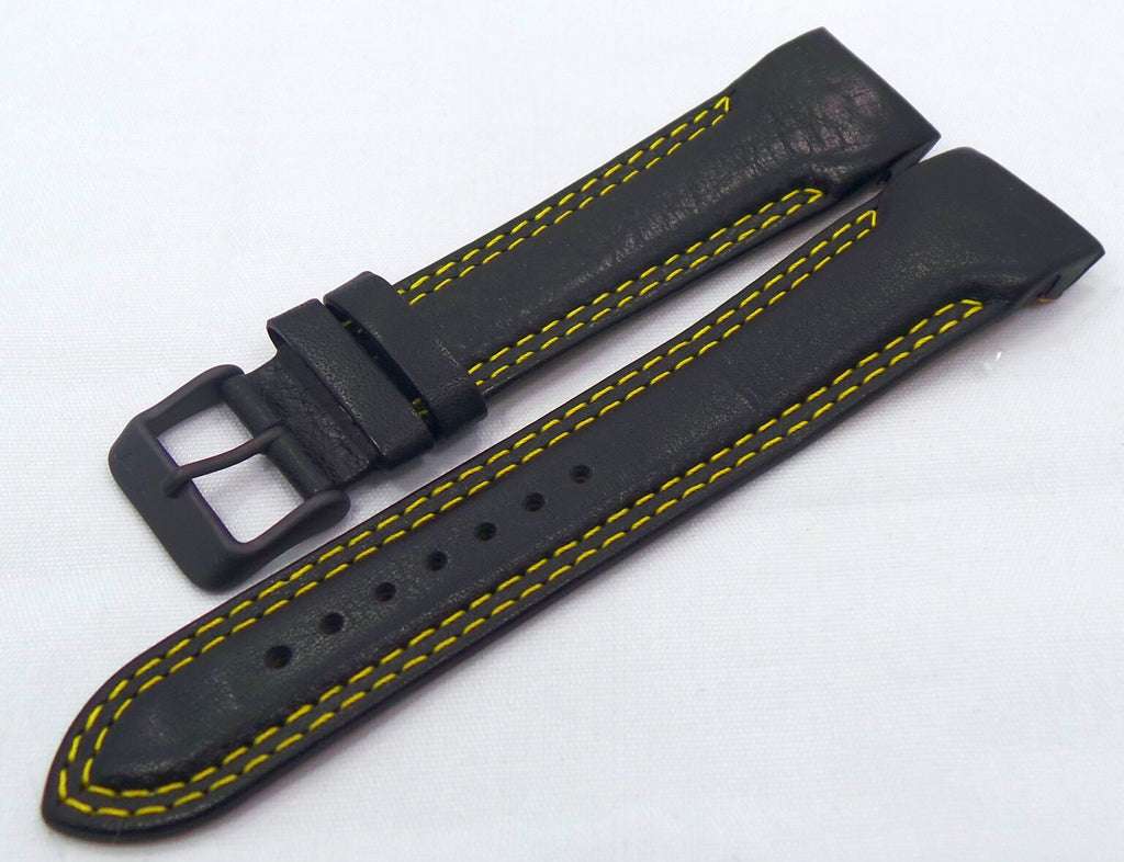 Vostok Europe N1 Rocket-Radio Room Leather Strap 22mm Black/Yellow-N1RR.22.L.B.Bk.Y - Russia2all