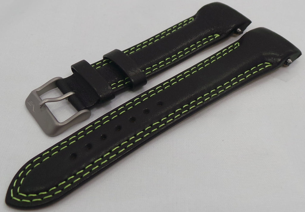 Vostok Europe N1 Rocket-Radio Room Leather Strap 22mm Black/Green-N1RR.22.L.M.Bk.G