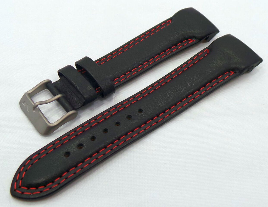 Vostok Europe N1 Rocket-Radio Room Leather Strap 22mm Black/Red-N1RR.22.L.M.Bk.R - Russia2all