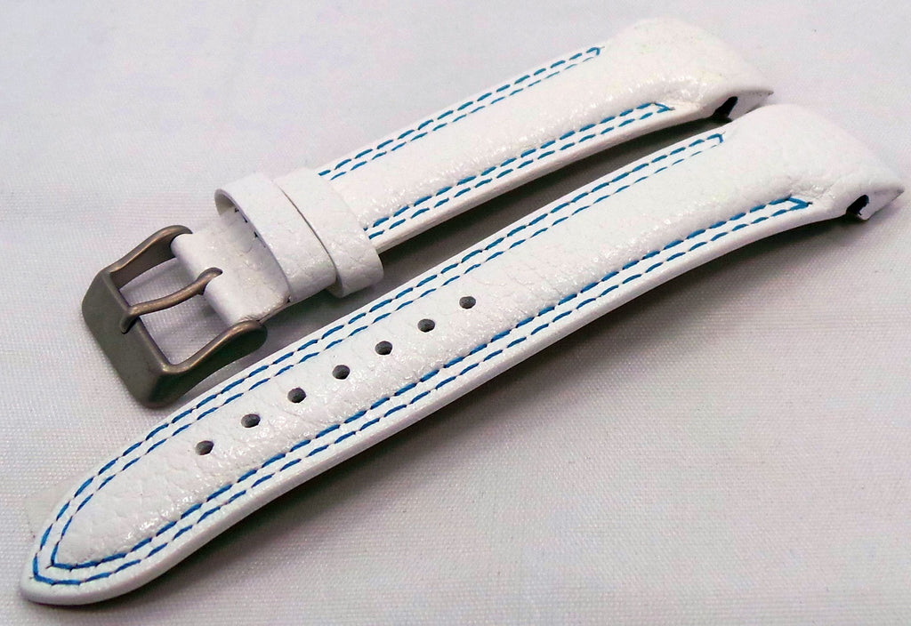 Vostok Europe N1 Rocket-Radio Room Leather Strap 22mm White/Blue-N1RR.22.L.M.W.Bu