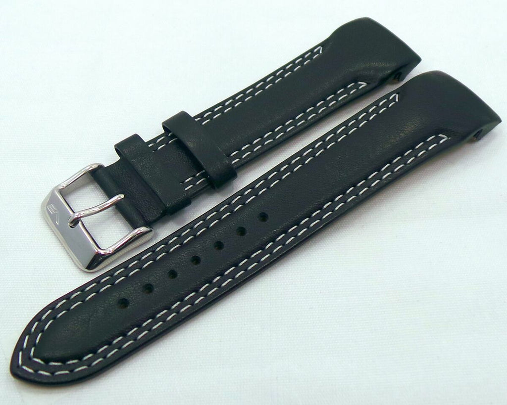 Vostok Europe N1 Rocket-Radio Room Leather Strap 22mm Black/White-N1RR.22.L.S.Bk.W - Russia2all