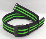 Vostok Europe N1 Rocket Radio Room NATO Ballistic Nylon Strap 22mm Black/Green-N1RR.22.N.B.Bk.G - Russia2all