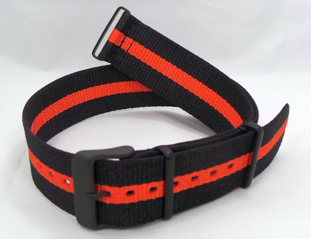 Vostok Europe N1 Rocket Radio Room NATO Ballistic Nylon Strap 22mm Black/Orange-N1RR.22.N.B.Bk.O - Russia2all