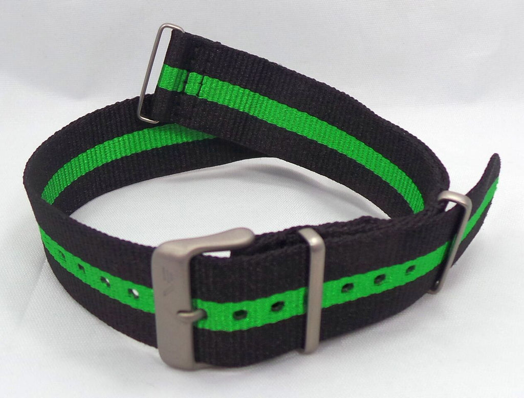 Vostok Europe N1 Rocket Radio Room NATO Ballistic Nylon Strap 22mm Black/Green-N1RR.22.N.M.Bk.G - Russia2all