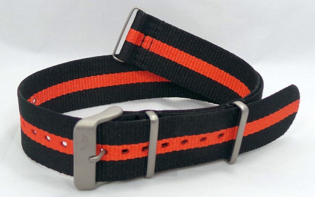 Vostok Europe N1 Rocket Radio Room NATO Ballistic Nylon Strap 22mm Black/Orange-N1RR.22.N.M.Bk.O - Russia2all