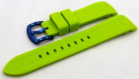 Vostok Europe N1 Rocket-Radio Room Silicon Strap 22mm Lime Green-N1RR.22.S.P.L.G