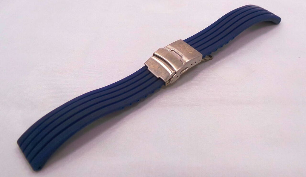 Vostok Europe N1 Rocket & Radio Room Silicon Strap 20mm Blue-N1RR.20.S.S.Bu