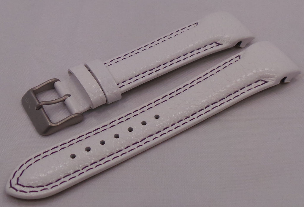 Vostok Europe N1 Rocket-Radio Room Leather Strap 22mm White/Purple-N1RR.22.L.M.W.P