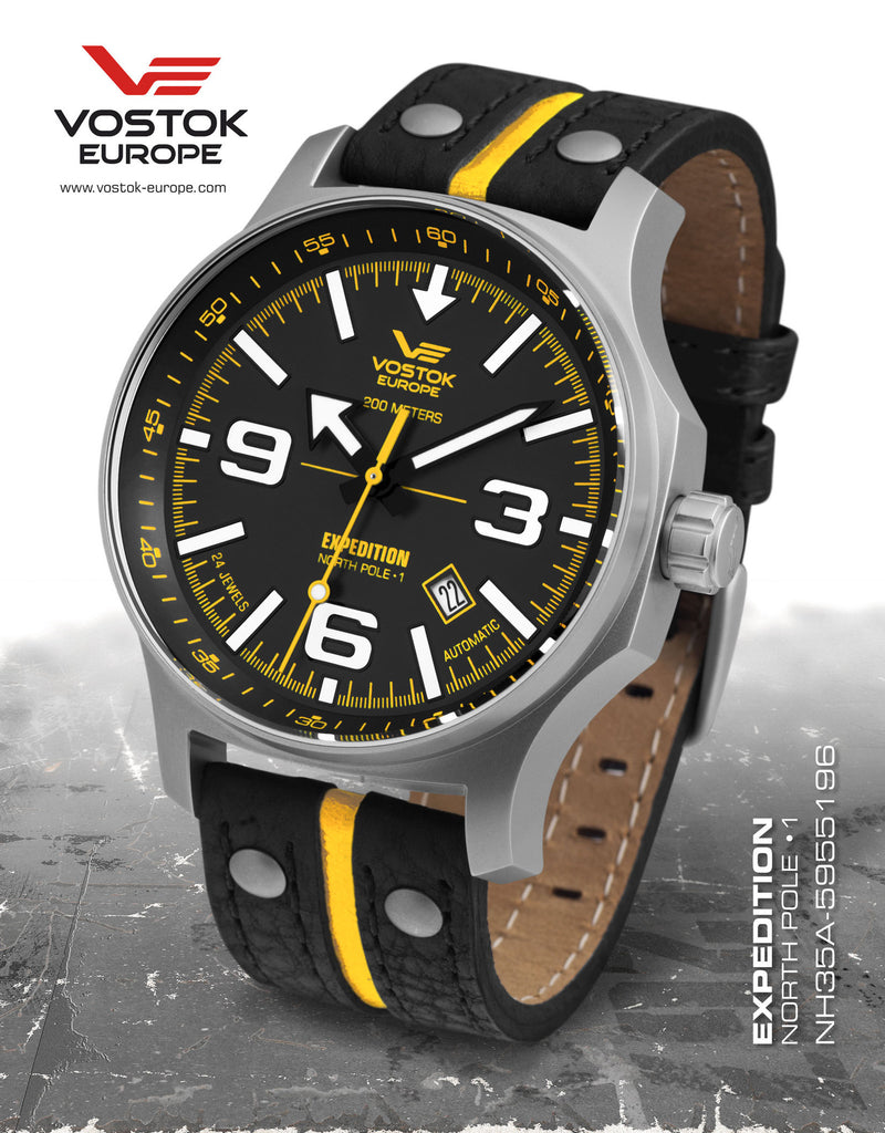 Vostok-Europe Expedition North Pole - 1 Watch (NH35A/5955196) 2 Straps - Russia2all