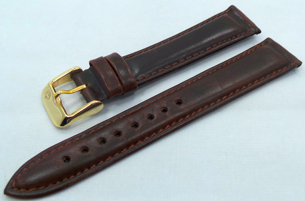 Poljot Leather Strap 18mm Dark Brown-Pol.18.L.R.Db - Russia2all