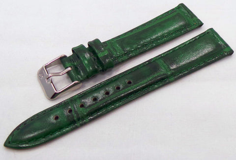 Poljot Leather Strap 18mm Green-Pol.18.L.S.G - Russia2all