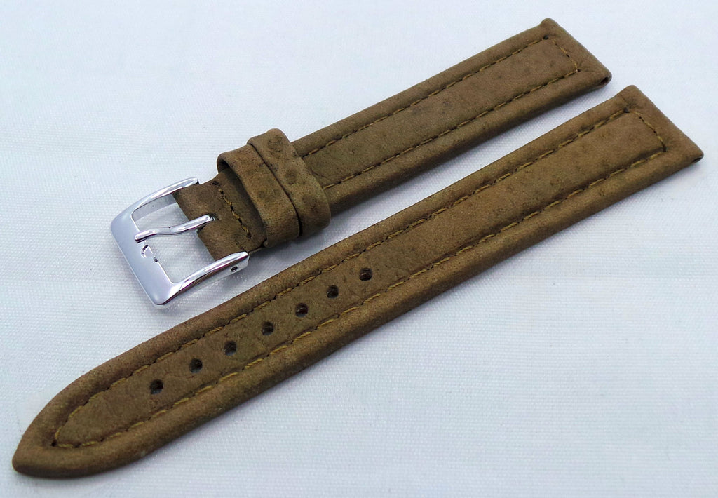 Poljot Leather Strap 18mm Khaki-Pol.18.L.S.Kh - Russia2all