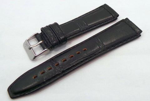 Poljot Leather Strap 20mm Black-Pol.20.L.M.Bk.Cr - Russia2all