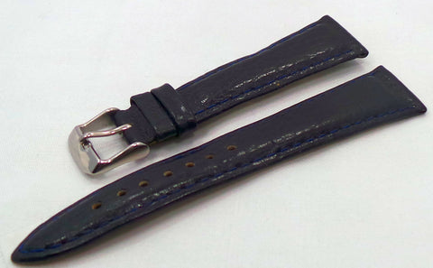 Poljot Leather Strap 20mm Blue-Pol.20.L.S.Bu.002 - Russia2all