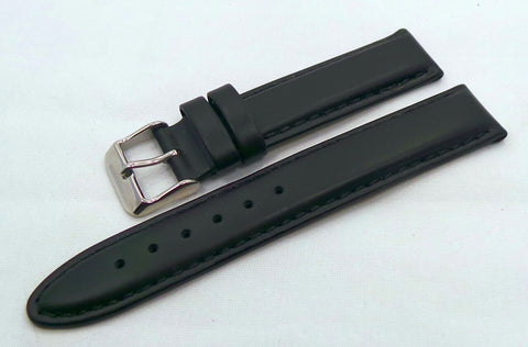 Sturmanskie Leather Strap 18mm Black-Str.18.L.S.Bk - Russia2all