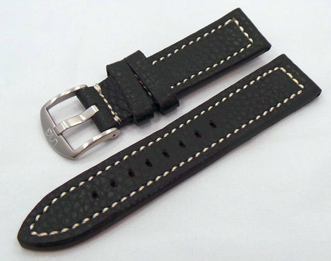 Uniq Leather Strap 22mm Black/White-Unq.22.L.M.Bk.W - Russia2all