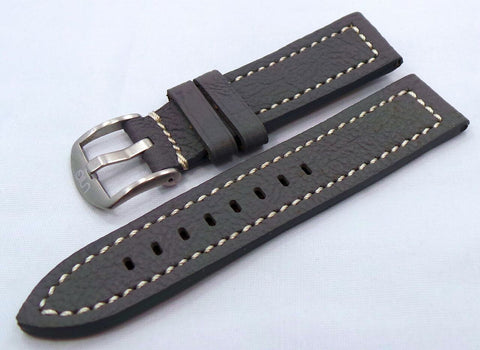 Uniq Leather Strap 22mm Grey/White-Unq.22.L.M.Gy.W - Russia2all