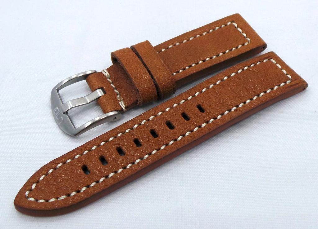 Uniq Leather Strap 22mm Light Brown/White-Unq.22.L.M.Lb.W - Russia2all