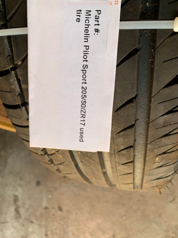 Michelin Pilot Sport 205/50/ZR17 89Y used tire -