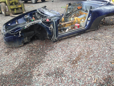 993 Body Shell cabrio 1995 blue with perfect wiring harness and salvage title -