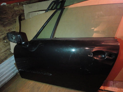 911 Door Targa 1987 left driver, black, mirror, glass round access hole era harness has been spliced repainted several times - 911.531.005.23