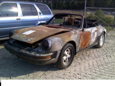 911 Body Shell Cabrio 1986 NON rebuildable salvage body only -