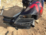 Boxster Body cut Rear Quarter, rocker, tail light right black 2000 -