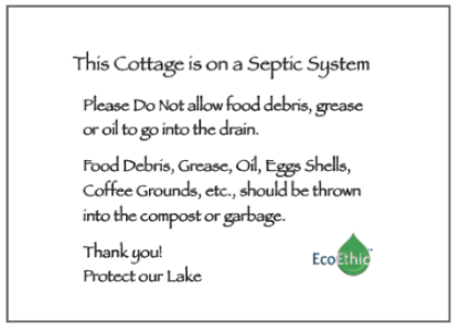 EcoEthic Septic Care Sign Pac (link below)