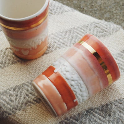 Object Enthusiast Pink & Peach Tumblers