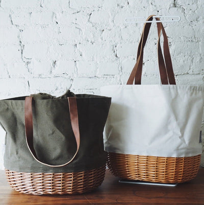 Canvas & Willow Basket Tote