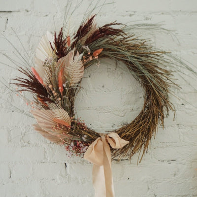 Pastel Palm Wreath