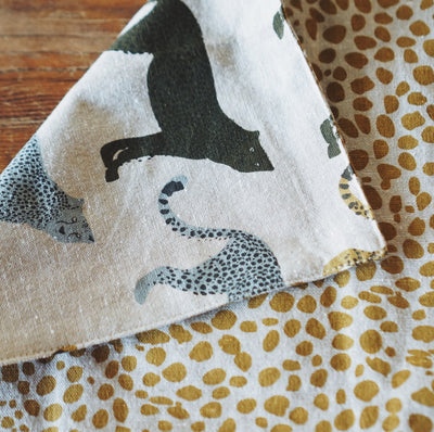 Two Sided Cheetah Placemat - Set of 4