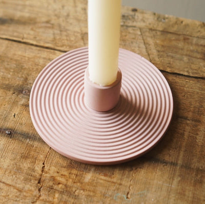 Terracotta candle holder - Hops Petunia Floral