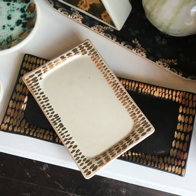 Object Enthusiast - Cream & Gold Dash Tray