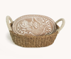 Terracotta Bread Warmer Basket - Hops Petunia Floral