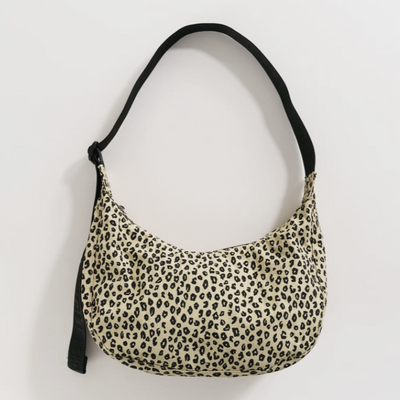 Baggu Medium Nylon Crescent Honey Leopard