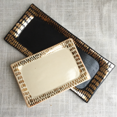 Object Enthusiast - Black & Gold Vanity Tray