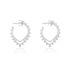 Sierra Winter Buffalo Mound Hoop Earrings