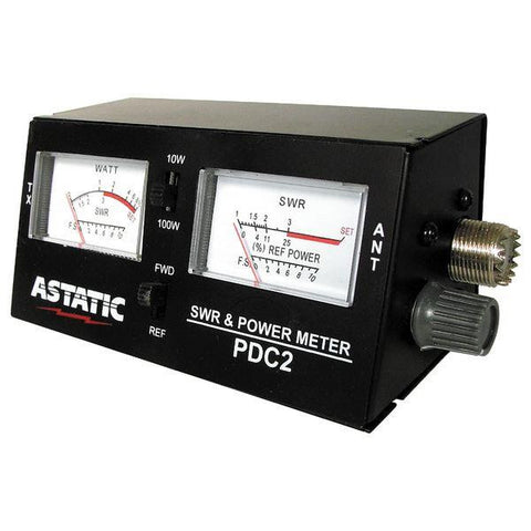 Astatic PDC2 SWR Meter with RF Power & Field Strength Scales