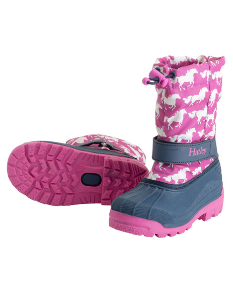 Hatley Fairy Tail Horses Winter Boots Was £39.99 Now