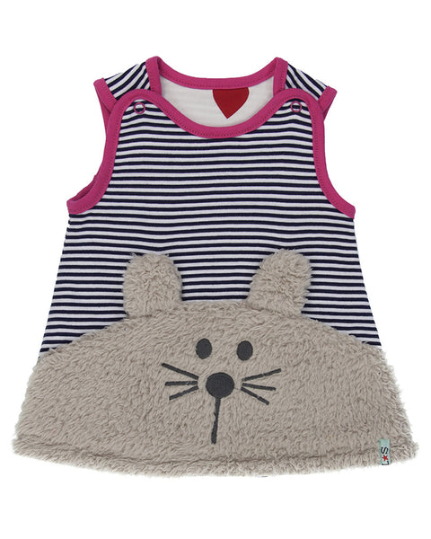 Lilly & Sid Bunny Face Reversible Pinafore