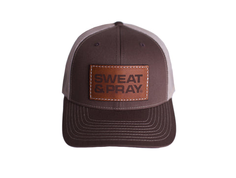 SP LEATHER PATCH SNAPBACK - BROWN