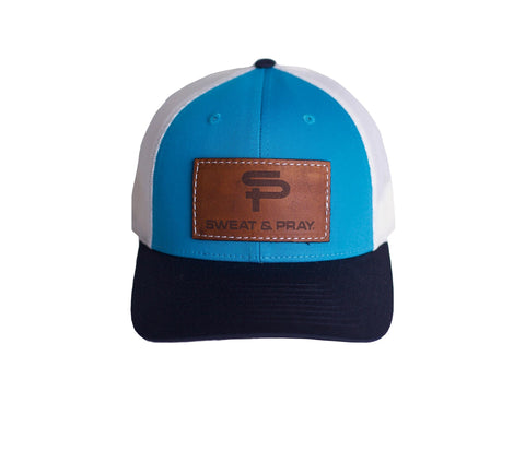SP LEATHER PATCH SNAPBACK - MULTI BLUE